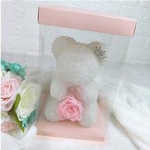Свадебные украшения Роза медведь Роза цветок романтический подарок на день рождения для девушки юбилей день Святого Валентина подарок для ребенка