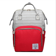 Lequeen для кормления для ухода, для детских подгузников сумка модная полосатая подгузники сумка Органайзер Водонепроницаемый беременности и родам сумка для мамы, сумка Органайзер, сумки рюкзак