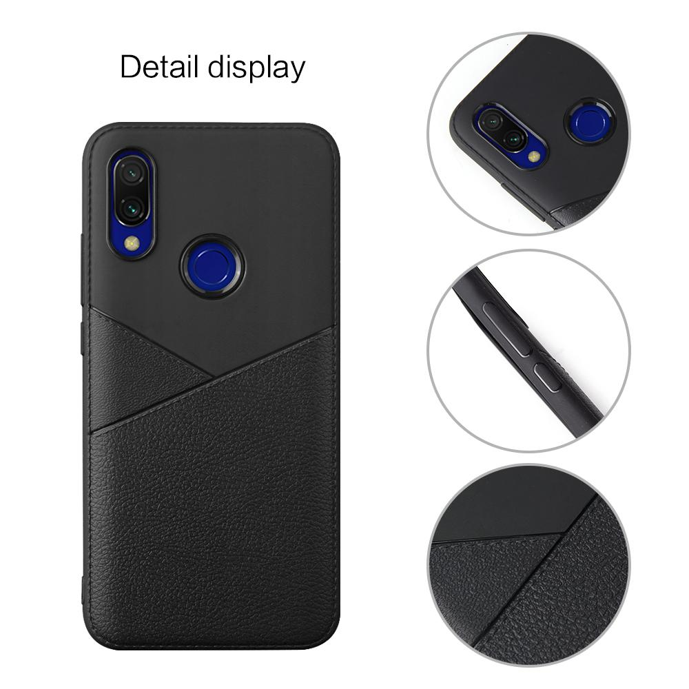 For Redmi 7A Stylish Business Style Leather Grain Back Cover Non slip Shockproof TPU Full Protective Soft Case in Flip Cases from Cellphones Telecommunications