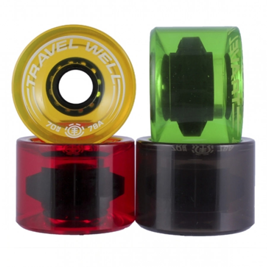 Professional Skateboard Longboard Wheels 70mm 78A Transparent Different Colors PU Long Board Wheel