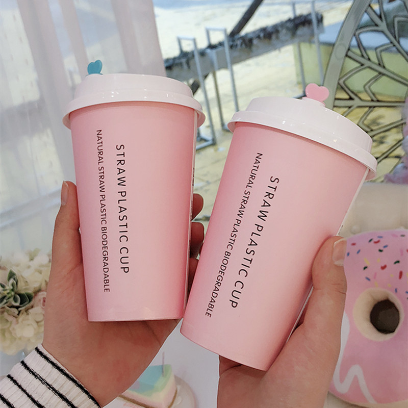 50pcs Pink Disposable Tea Cup Party Birthday Wedding Favor Creative Cold And Drink Paper Cups Coffee Tea Packaging Cups With Lid