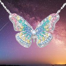 Роскошное модное женское ожерелье с подвеской в виде радужной