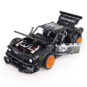 Image 5 - In Lager Technik Series Super Racing Auto RC Ford Mustang Hoonicorn RTR V2 Bausteine Ziegel Spielzeug für Kinder Geschenke