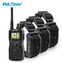 Petrainer 900B-3 водонепроницаемый и Перезаряжаемый 1000 м дистанционный тренировочный ошейник для 3 собак новейший дизайн для 3 собак