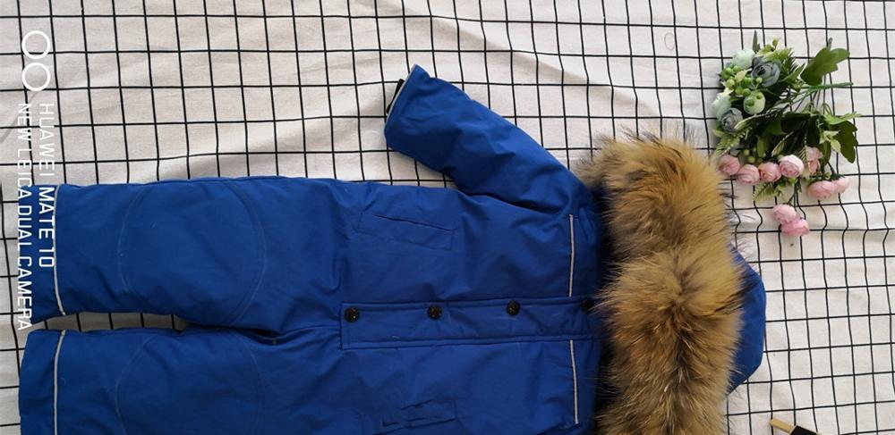 Bébé mère 2019 hiver réel fourrure de raton laveur à capuche neige porter des vêtements de dessus chauds vêtements de ski - 6