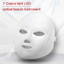 Light Photon Led 7 Colors Therapy Mask Facial Mask Beauty Wrinkle Acne Removal Light Therapy Skin Rejuvenation Face Care Tool 3 colors facial led mask machine photon therapy light anti wrinkle acne removal skin rejuvenation facial skin care beauty device
