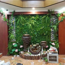 Artificial Grass Lawn Turf Simulation Plants Landscaping Flower Wall Green Plastic Door Shop Image Backdrop Flores