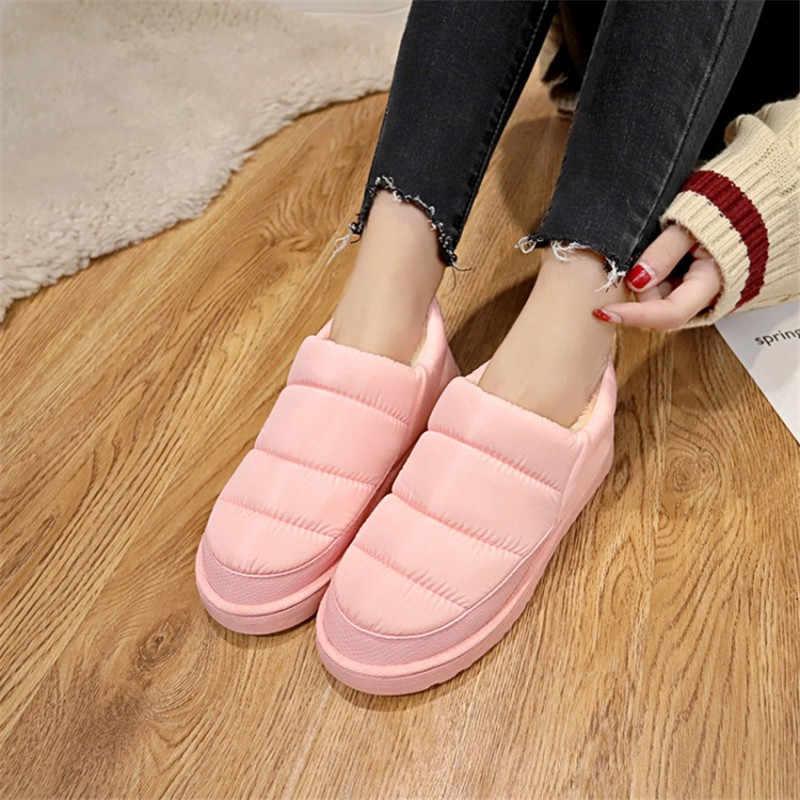 COOTELILI 2019 kadın botları kış ayakkabı su geçirmez kadınlar için kar botları rahat ayakkabılar kış kadın yarım çizmeler kadın