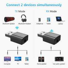 цена на 2 in 1 Bluetooth Transmitter Receiver USB Wireless Audio Adapter BLE5.0 for Mouse Keyboard SP99