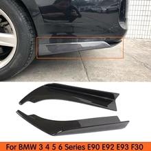 Estilo Universal De Fibra De Carbono Splitter Avental do Lado Do Amortecedor Traseiro para BMW 3 4 5 6 Série E90 E92 E93 F30 F32 F33 F36 F10 F06 F12 F13