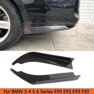 Image 1 - Universele Stijl Carbon Achterbumper Side Splitter Schort voor BMW 3 4 5 6 Serie E90 E92 E93 F30 f32 F33 F36 F10 F06 F12 F13