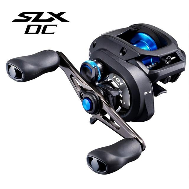 2019 SHIMANO SLX تيار مستمر 151 150HG 151HG 151XG baitcast الصيد بكرة HAGANE I DC4 سوبر الحرة بكرة الانظار صيد السمك