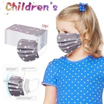 10-100PC Children's Mask Disposable Facemask Protective For Children Cotton Mascarillas Ninos Mascarilla Tela Con Filtro Careta 1