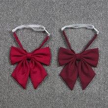 Bow-Tie Sailor-Suit Uniform-Accessories Jk-Uniform Girls Japanese School Wine Red Butterfly