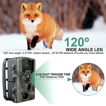20MP Hunting Trail Camera HD 1080P Infared Wildlife Scouting Cam Infrared Camera 0.3s Trigger Time Wildlife Photo Trap цена 2017