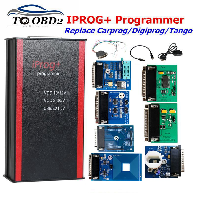 Newest Iprog+ V80 Pro Programmer Support IMMO+Mileage Correction+Airbag Reset Till The Year 2019 Replace Carprog/Tango/Digiprog