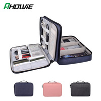 Double Layer Multi function Organizer Case for Headphone Storage Bag Digital Portable Large Accessories Cable USB Management Box