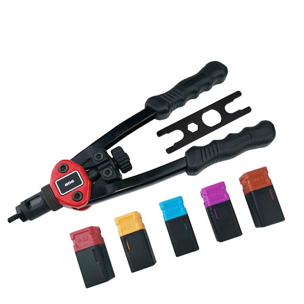 Rivet Nut Guns + Replacement Parts + Wrench Auto Riveter Tool Sets Hand Insert Rivet Nut Tool Manual Mandrels