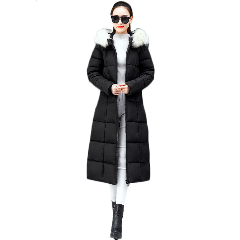 Winter Coat Black Red Green 5 Colors M 4XL Plus Size Loose Feather Hooded Down Jackets 19 New Korean Slim Long Gray Parka CX1017 in Parkas from Women 39 s Clothing