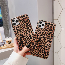 Luxury fashion ultra-thin leopard print case For iPhone 11 Pro X XR XS Max 7 8 6 6s Plus Soft silica gel frosted back cover Capa luxury matte leopard print phone case cover for iphone xs max xr x 8 7 6 6s plus 11 pro soft back cases colorful fashion shell