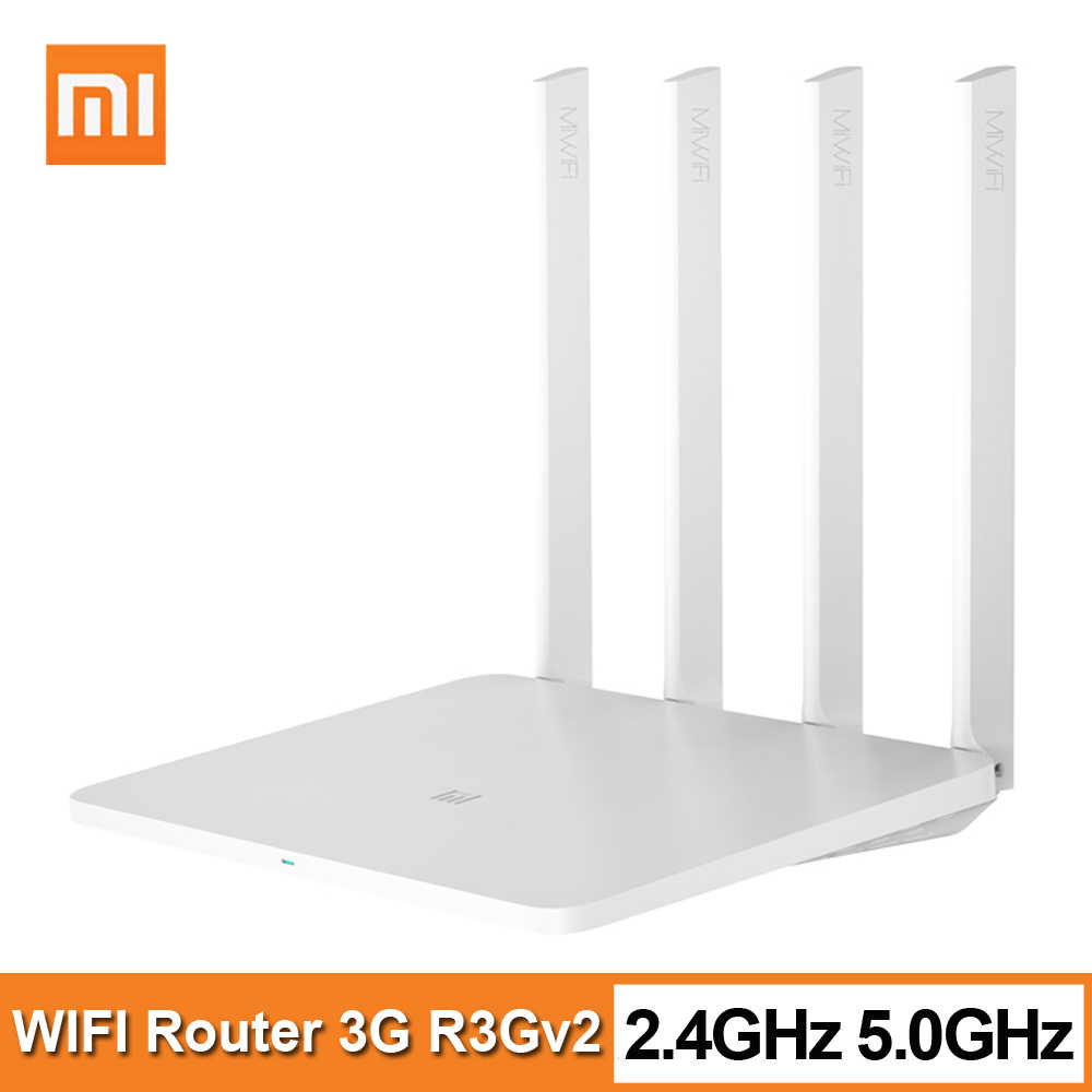 Xiaomi Mi WiFi Router 3G R3Gv2 2,4G/5G 1167mbps 256MB 802,11 ac 4-antenne Dual Band 128MB Flash Netzwerk Extender WiFi APP Control