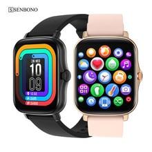 SENBONO 2021 Smart Uhr Y20 Männer Frauen Armband Fitness Tracker Herz Rate Schlaf Monitor Sport Uhr Smartwatch für IOS Android