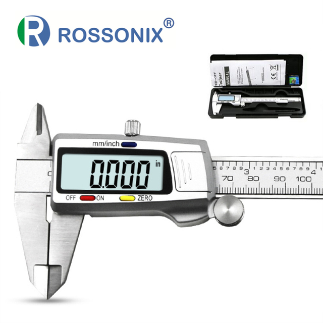 High Precision Stainless Steel Metal Digital Caliper 6 inch 15cm Measuring Instrument LCD Vernier Calipers Measuring Tool sets