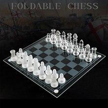 S L Größe K9 Glas Schach Kleine Medium International Chess Board Schach Spiel Lustige Schach Set Für Erwachsene Kind