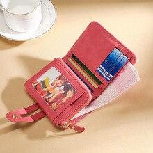 Short Women Wallet Genuine Leather Wallet