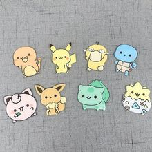 8PCS Japan Anime cartoon Fridge Magnets Acrylic Refrigerator Sticker Creative funny Magnetic Magnet Paste Home Decor Accessorie 1pcs magnetic fridge magnet cartoon figure pet shop pvc refrigerator magnet whiteboard sticker home decor