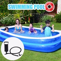 Swimming Pools For Family Outdoor Inflation Pool With Inflator Baby Ocean Ball Sand Pool Bath Toys Square Piscina Ju6