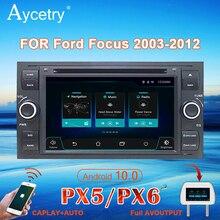 PX6 راديو السيارة 2 الدين أندرويد 10 مشغل دي في دي الوسائط المتعددة لتحديد المواقع autoradio لفورد مونديو فوكس S ماكس C MAX غالاكسي فييستا فيوجن كوجا