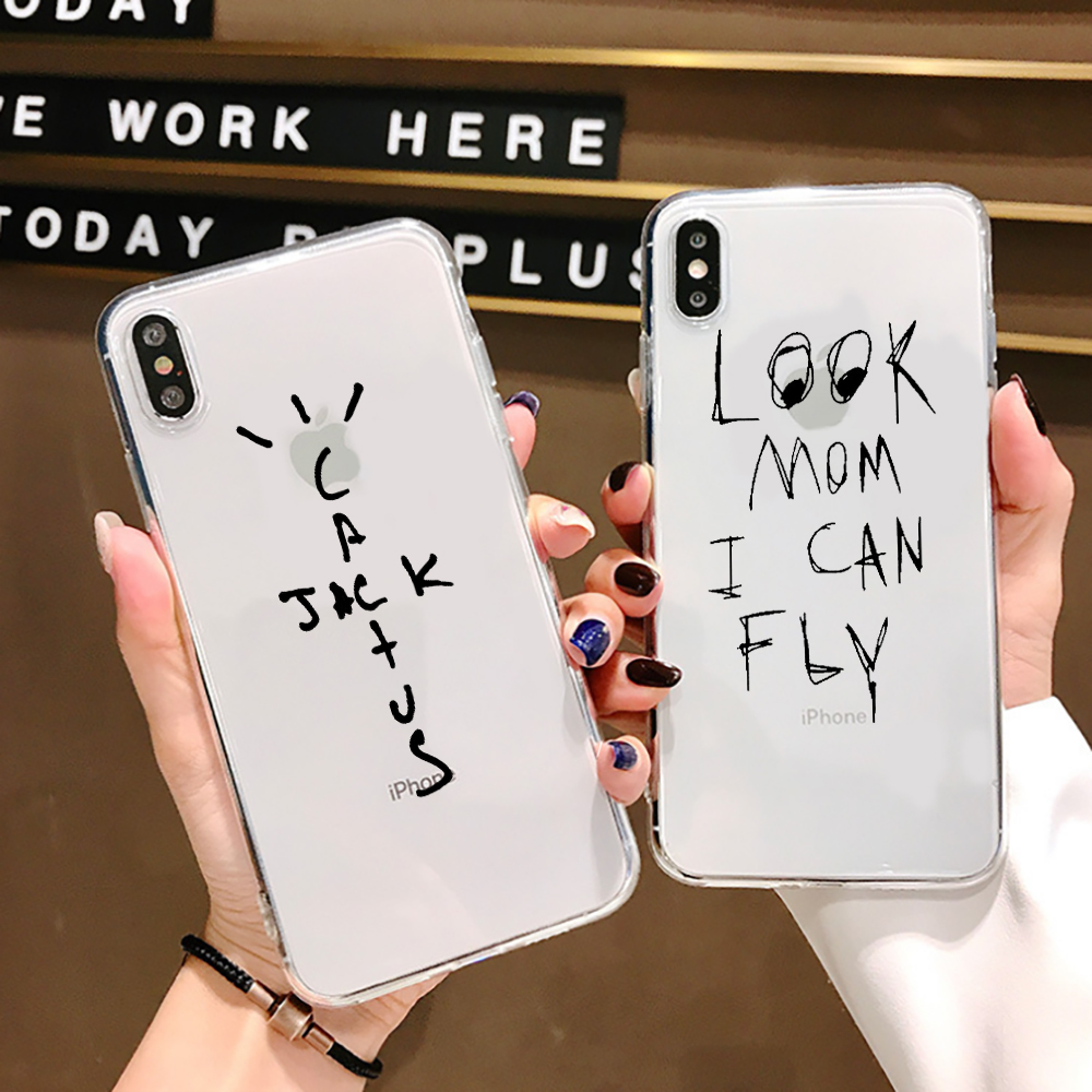 Look Mom I Can Fly Transparent soft shell For iphone 11 SE X 7 XS XR XSMA 11ProMax Astroworld wish you were here travis Cover(China)