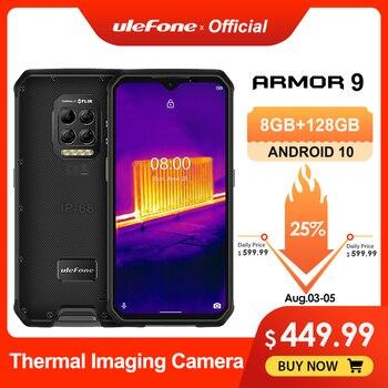 Ulefone Armor 9 cámara térmica teléfono robusto Android 10 Helio P90 octa-core 8GB + 128GB teléfono móvil 6600mAh 64MP Cámara Smartphone