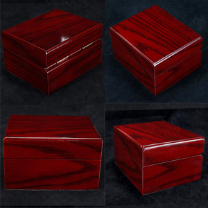 Image 5 - 4Pcs עץ שעון תיבת תצוגת מקרה אוסף, Vintage סגנון תכשיטי אחסון ארגונית לנשים גברים אדום