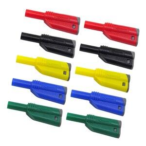 Image 2 - 5 ペア 4 ミリメートルスタッカブル絶縁安全バナナプラグマルチメータコネクタ 5 色