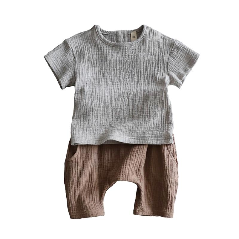 Soft  Cotton Short Sleeve Baby Summer Boy And Girl Children's Half Sleeve