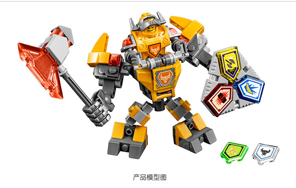 Bela 10589 Nexus Knights Building Blocks set Macy Aaron AXL Lance Clay Battle Suit Kids bricks toys Compatible with Legoinglys