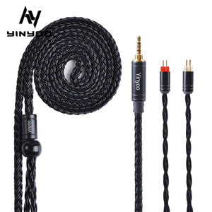 Yinyoo 16 Core Silver Plated Cable 2.5/3.5/4.4mm Balanced Cable with MMCX/2PIN/QDC for KZZS10 PRO AS10 BLON BL-03 BL-05 BL05(China)