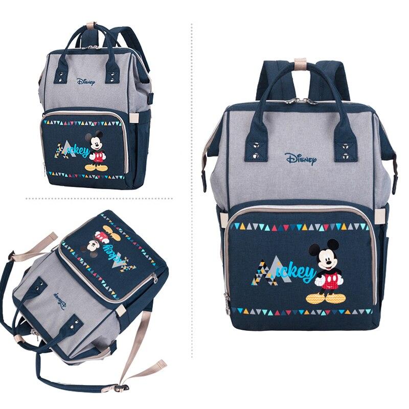 Large Capacity Mummy Maternity Nappy Bag Diaper Bag Minnie Mickey Travel Backpack Oxford Women's Fashion Feeding Baby Bag Disney