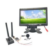 קל לשימוש FPV מערכת רחב מתח 5.8G 40CH 600mw משדר + FPV מיני מצלמה עם 7 אינץ FPV מירוץ Drone