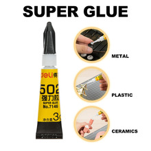 Deli School & Office Supplies Liquid Glue for Glass Metal Ceramic Stationery Material Contact Adhesive Super