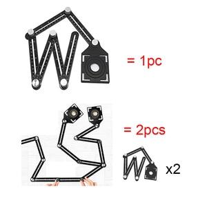Image 5 - Multi Angle Measuring Ruler Protractors Adjustable 6 sides ruler Floor Tile Hole Locator Glass Woodworking Universal Puncher