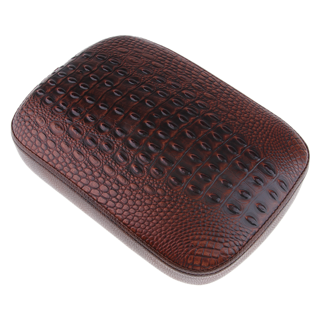 Brown Sponge Filler Passengers Cushion Pad Seat W/ 8 Suction Cups For Harley Custom