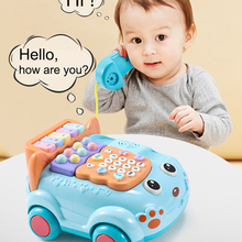 Retro Children's Phone Toys TelePhone Early Education Story Machine Baby Phone Emulated Telephone Toys For Children Musical Toys
