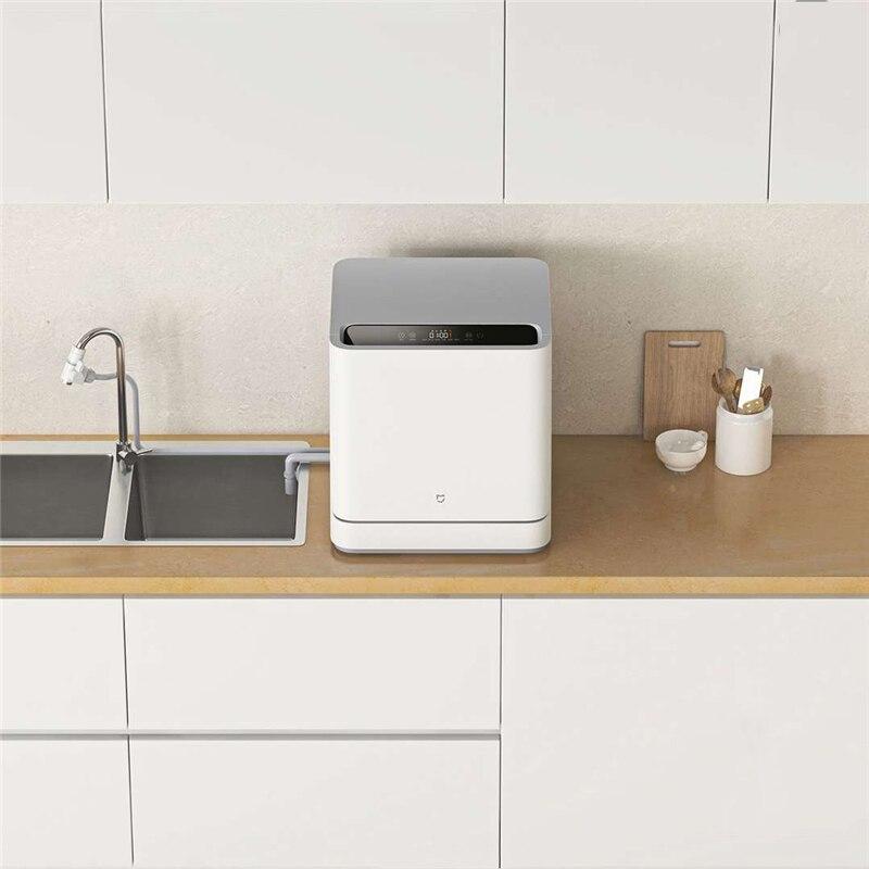 VDW0401M Internet Desktop Dishwasher With 4 Sets 6D Double Spray System 99.99% Sterilization For Home Office