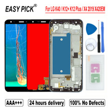 For LG K40 / K12+ K12 Plus / X4 2019 X420EM X420BMW X420EMW X420HM X420 X420N LCD Display Touch Screen Digitizer For LG Solo LTE
