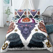 Комплект постельного белья с принтом в стиле старой школы наволочками