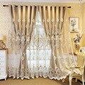 Европейские и американские роскошные белые и кремовые шторы с вышивкой для гостиной, окна, занавески для спальни/кухни