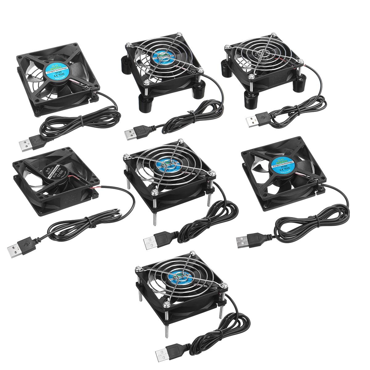 Router Cooling Fan Rack TV Box Wireless Router Cooling USB 5V 80mm Cat Radiator Rack Heatsink Cooler Cooling Fan